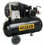 acél ikerhengeres kompresszor, 100L tartály, 230V 3LE motor, 393/260 l/min, 10Bar B3800B/100 CM3