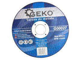 Geko vágókorong fémre 125x1.0x22.0