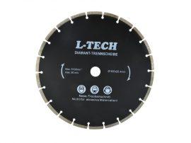 Gyémánt vágótárcsa szegmentált L-TECH fekete 300x25.4