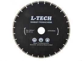 Gyémánt vágótárcsa szegmentált L-TECH fekete 400x32