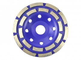 Duplasoros gyémánt betoncsiszoló 125x22 Dupla