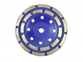 Duplasoros gyémánt betoncsiszoló 125xGWINT M14 Dupla