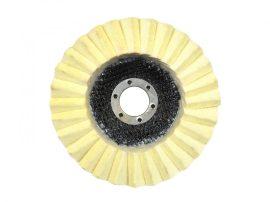 Lamellás polírozótányér filces GEKO Premium 125x22mm (10/100)