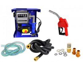 230V Gázolajszivattyú szett, automata töltőpisztolyal, mérőórával, csővel (csúszólapátos lamellás sz