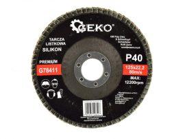 Lamellás csiszolótányér Szilikon GEKO Premium 125xP40