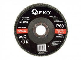 Lamellás csiszolótányér Szilikon GEKO Premium 125xP60