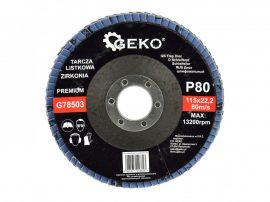 Lamellás csiszolótányér rozsdamentes GEKO Premium 115xP80