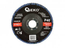 Lamellás csiszolótányér rozsdamentes GEKO Premium 125xP40