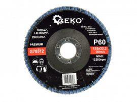 Lamellás csiszolótányér rozsdamentes GEKO Premium 125xP60