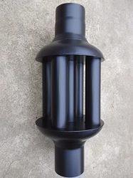 KoloTech Ø120x650mm 5 csöves masszív hőfokozó hődob füstcsőre kályhára kandallóra Anyagvastagsága:1.6mm