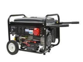 Benzinmotoros áramfejlesztő, aggregátor 7 LE 230/400V önindítós 2500/3500W