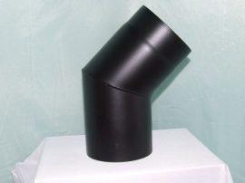 KoloTech Ø120/45 Fekete füstcső könyök 1.6mm