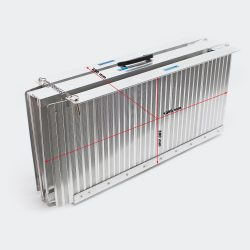 Kerekesszékes összecsukható aluminium mobil felhajtó rámpa 213.5x72x5cm 270kg