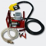 12V Gázolajszivattyú szett, automata töltőpisztolyal, mérőórával, csővel (csúszólapátos lamellás sz