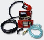 230V Gázolajszivattyú szett, automata töltőpisztolyal, mérőórával, csővel (csúszólapátos lamellás szivattyú)
