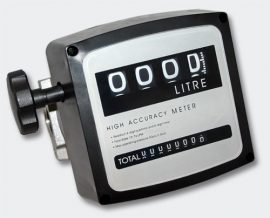 Fémházas átfolyásmérő óra