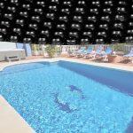 Medence szolártakaró kör alakú 3.6m fekete medencefedés