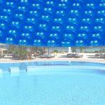 Medence szolártakaró kör alakú 5m kék medencefedés