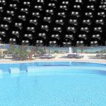 Medence szolártakaró kör alakú 5m fekete medencefedés