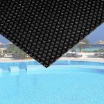 Medence szolártakaró 5x8m téglalap alakú fekete medencefedés