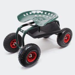 Kerti ültető kocsi kerekesszék műhelykocsi 150 kg-ig terhelhető