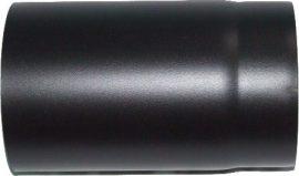 Vastag falú füstcső Ø130/250mm fekete