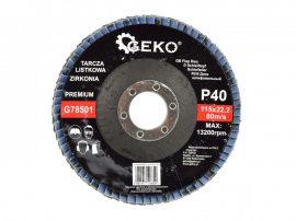 Lamellás csiszolótányér rozsdamentes GEKO Premium 115xP40