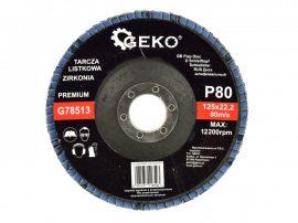 Lamellás csiszolótányér rozsdamentes GEKO Premium 125xP80