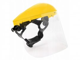Arcvédő védőmaszk fejpántos/homlokpántos plexis